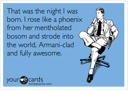 That was the night I was