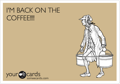 I'M BACK ON THE