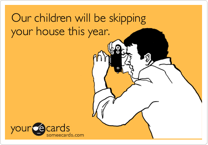 Our children will be skipping