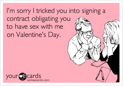 I'm sorry I tricked you into signing a