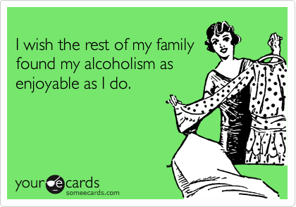 I wish the rest of my family