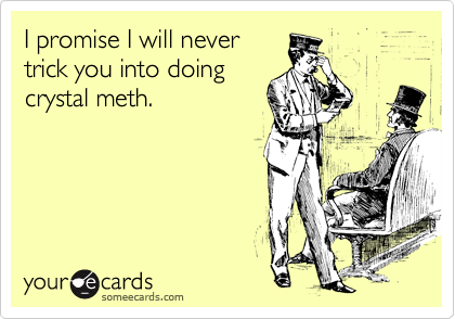 I promise I will never