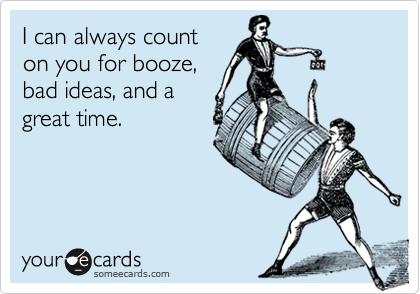 I can always count