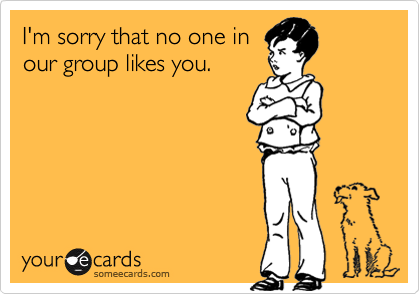 I'm sorry that no one in