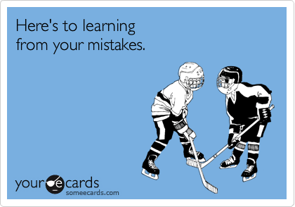 Here's to learning 