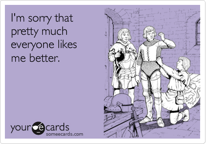 I'm sorry that 