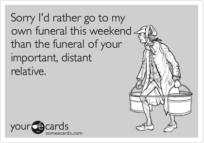 Sorry I'd rather go to my