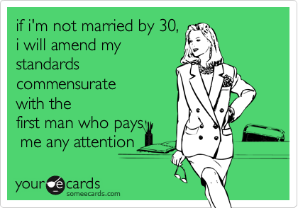 if i'm not married by 30,