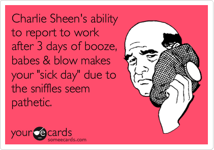 Charlie Sheen's ability