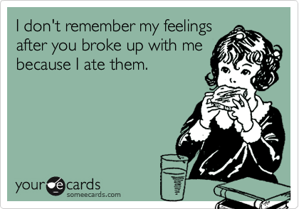 I don't remember my feelings