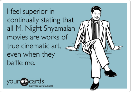 I feel superior in