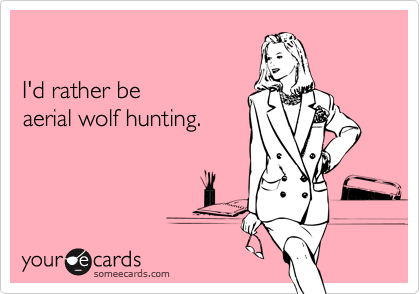 I'd rather be aerial wolf hunting.