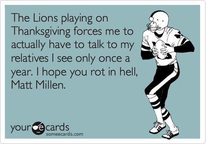 The Lions playing on