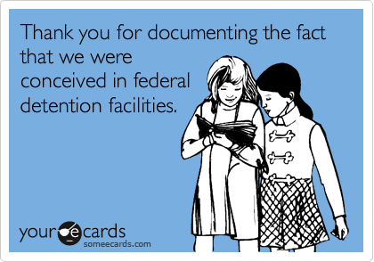 Thank you for documenting the fact that we were