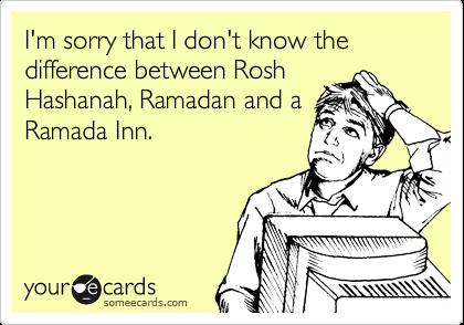 Religious ignorance.