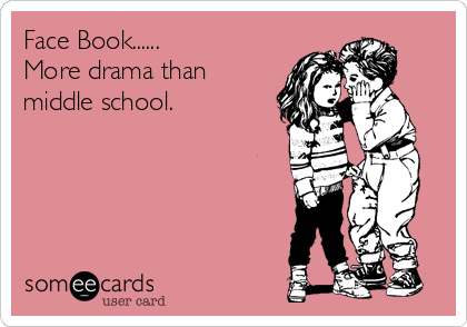 Face Book...... More drama than middle school.