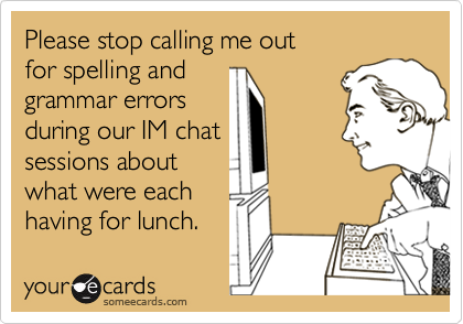 Please stop calling me out
