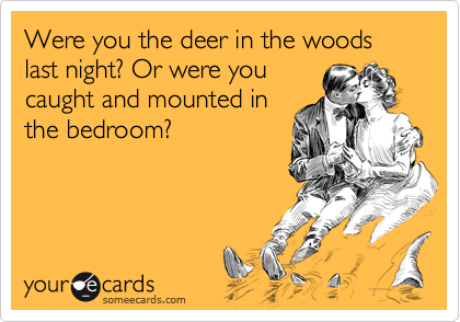 Were you the deer in the woods last night? Or were you