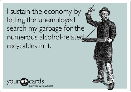 I sustain the economy by