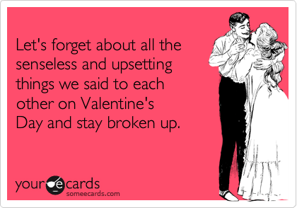 Let's forget about all the 