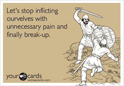 Let's stop inflicting