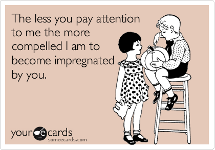 The less you pay attention