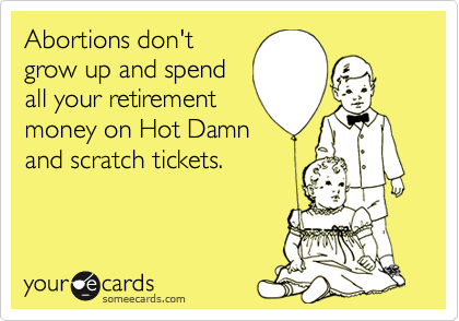 Abortions don't