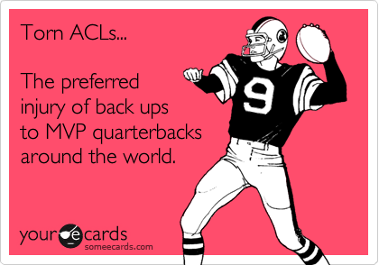 Torn ACLs...