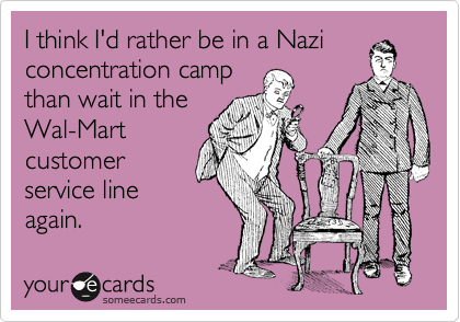I think I'd rather be in a Nazi