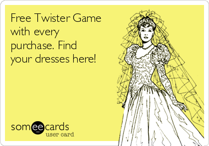 Free Twister Game with every purchase. Find your dresses here!