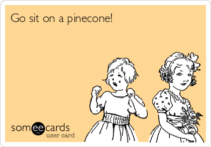 Go sit on a pinecone!