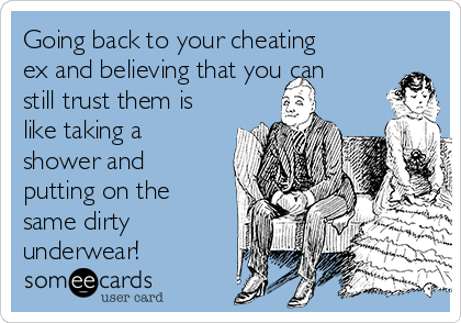 Should you get back with an ex who cheated