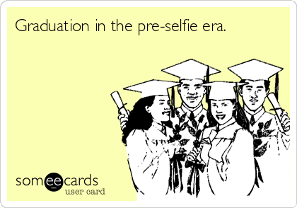 Graduation in the pre-selfie era.