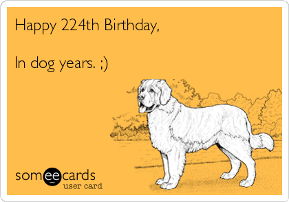 Happy 224th Birthday,  In dog years. ;)