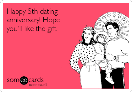 Happy 5th dating anniversary! Hope you'll like the gift.