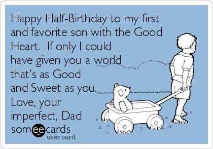 half birthday ecards