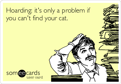 Hoarding: it's only a problem if you can't find your cat.