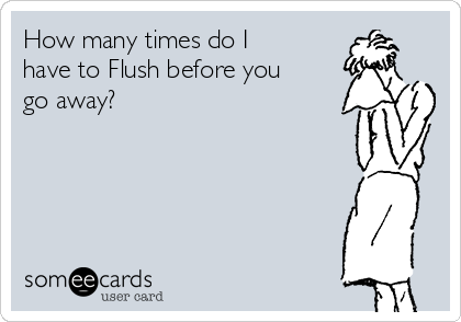 How many times do I have to Flush before you go away?