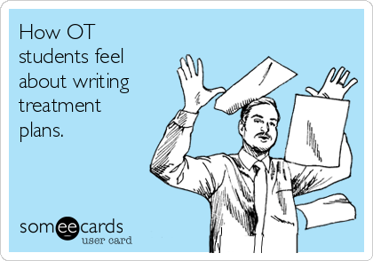 How OT students feel about writing treatment plans.