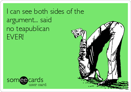 I can see both sides of the argument... said no teapublican EVER!