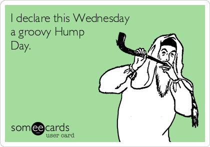 I declare this Wednesday a groovy Hump Day.