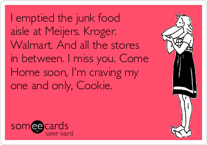 i emptied the junk food aisle at meijers kroger walmart and all