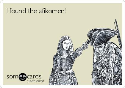 I found the afikomen!