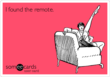 I found the remote.