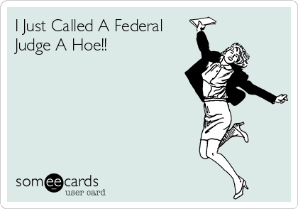 I Just Called A Federal Judge A Hoe!!