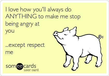 Stop being upset