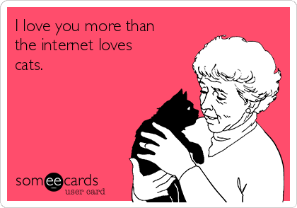 I love you more than the internet loves cats.
