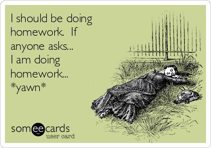 I should be doing homework.  If anyone asks...  I am doing homework...  *yawn*