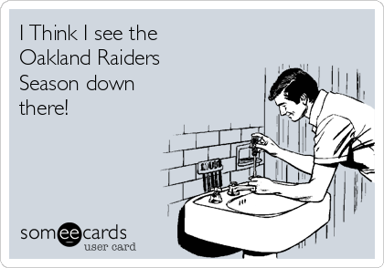 I Think I see the  Oakland Raiders Season down there!