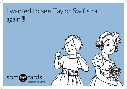 I wanted to see Taylor Swifts cat again!!!!!